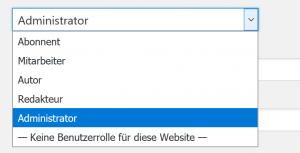 Standard Benutzer-Rollen in WordPress