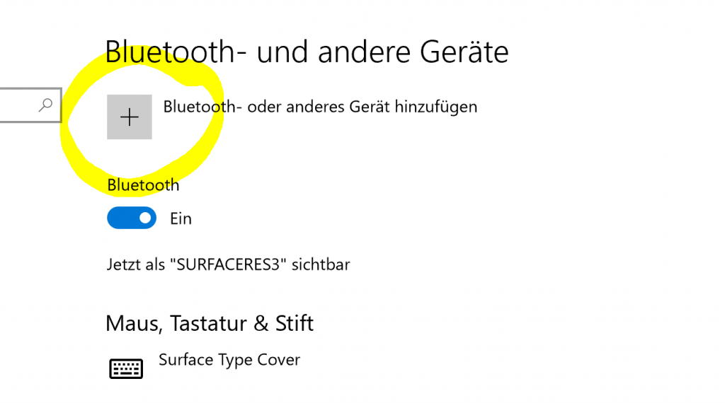 neue Bluetooth Verbindung aufbauen