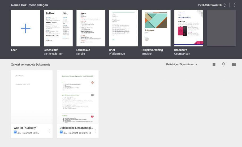 Google Docs erstellen