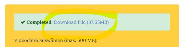 Videolautstärke erhoehen - Datei downloaden