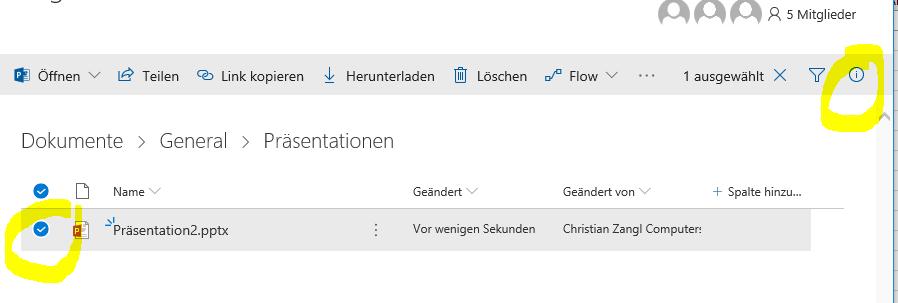 Zugriffsrechte von Dateien in Microsoft TEAMS anpassen