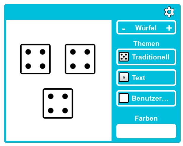 interaktiver Würfel in Smart Notebook