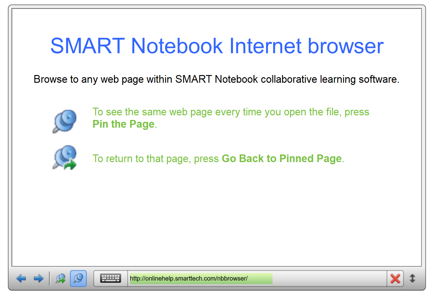 Internetbrowser in SmartBoard