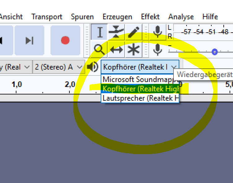 Kopfhörer Headset am Surface kontrollieren