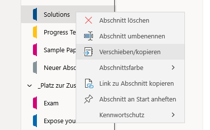 Altes OneNote in TEAMS verschieben