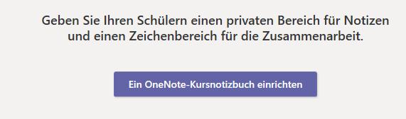 ein OneNote-Kursnotizbuch erstellen