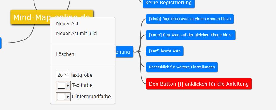 mind-map-online-de erstellen und formatieren