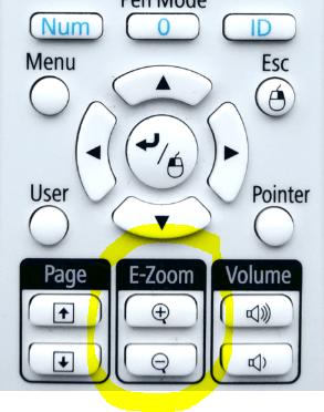 E-Zoom mit der Beamer Fernbedienung
