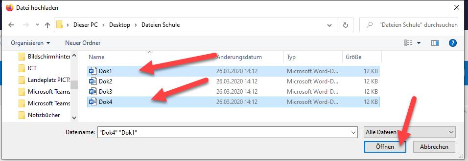 Dateien in OneDrive hochladen 2