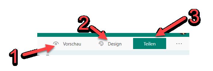 FORMS Vorschau Design Teilen