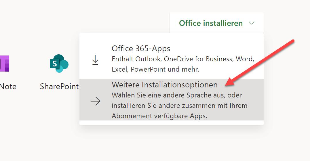 Office installieren 2