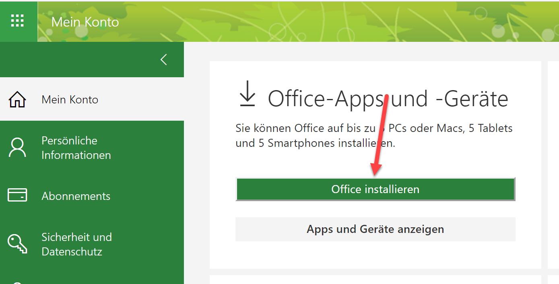 Office installieren 3