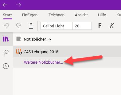 OneNote synchronisiert nicht Notizbuch oeffnen