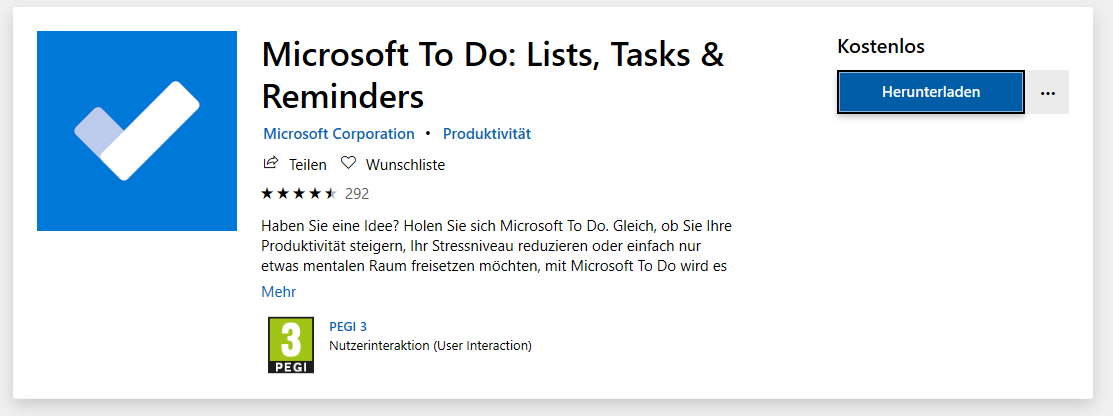 Microsoft To Do-Liste
