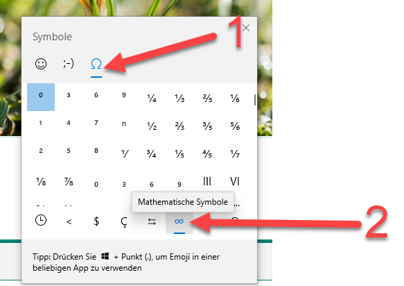 Sonderzeichen in FORMS verwenden
