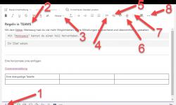 Formatierungsmöglichkeiten im Chat von TEAMS