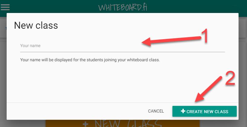 Neue Klasse in whiteboard.fi erstellen