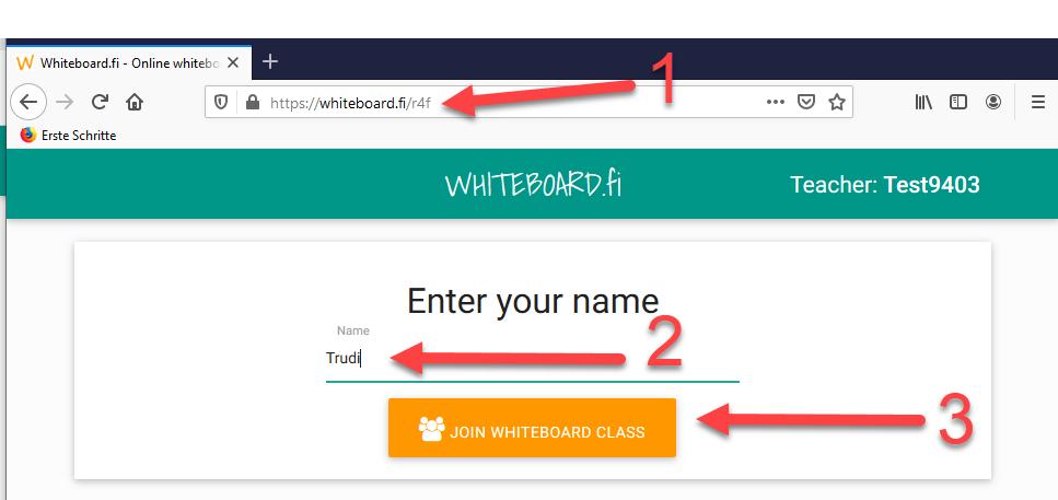 Whiteboard anmelden