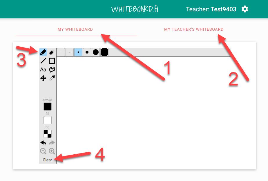 Whiteboard der Lernenden