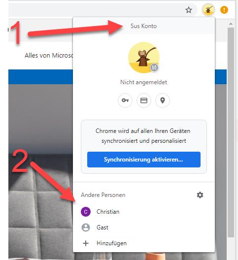 Im Browser mit mehreren Microsoft 365 Konten anmelden 4