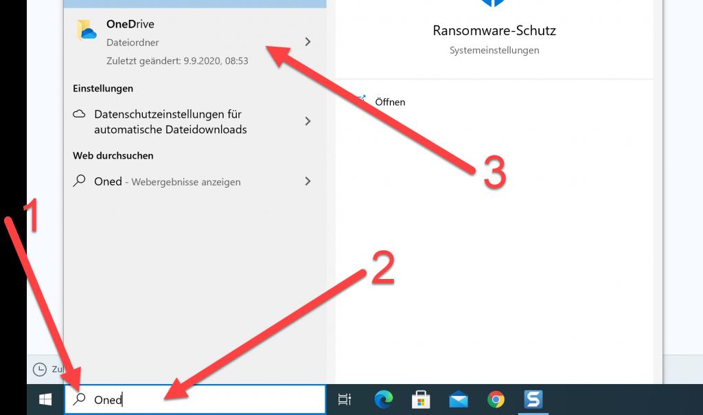 OneDrive einrichten auf deinem Computer