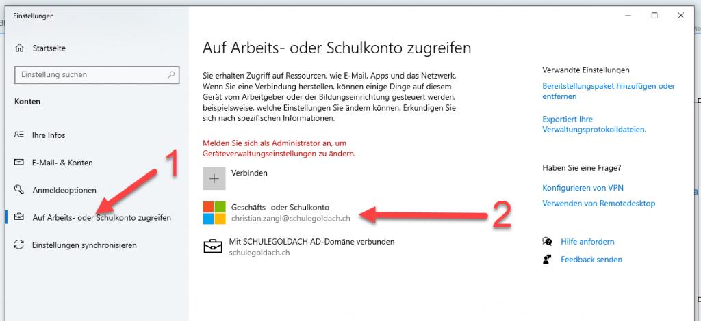 Anmeldeprobleme in Microsoft 365 loesen 2