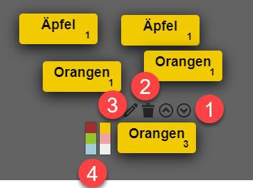 Karten bearbeiten Oncoo