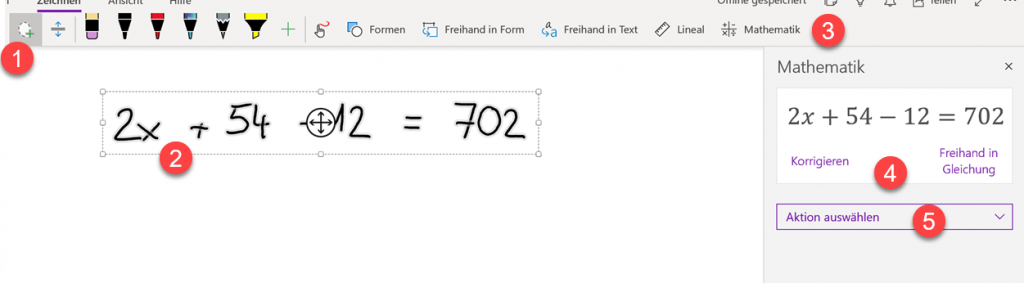 Mathematik Tool in OneNote