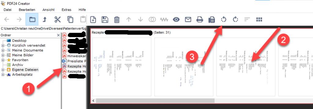 Wie drehe ich ein ganzes PDF