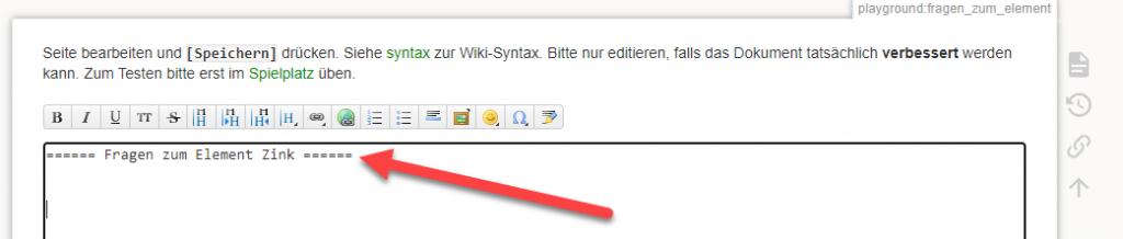 wiki neues Thema erstellen
