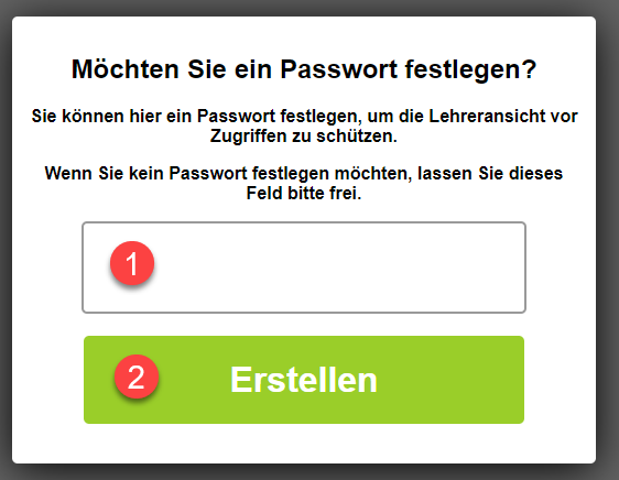 Lerntempoduett mit Passwort