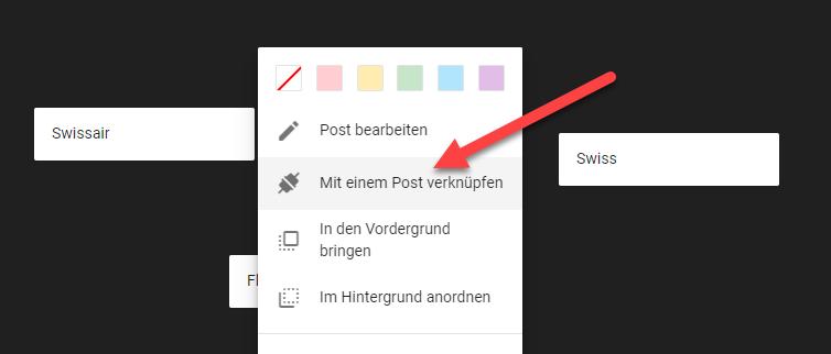 Mit einem Post verbinden
