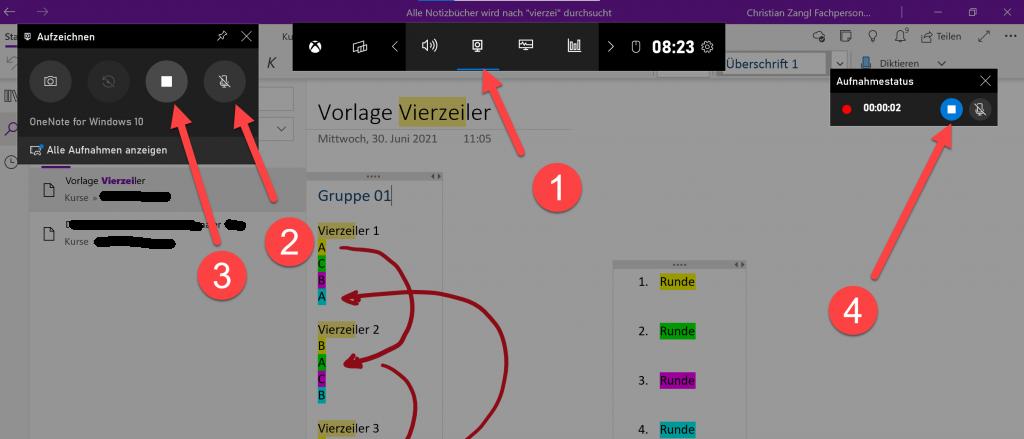 Bildschirm filmen mit Windows neu