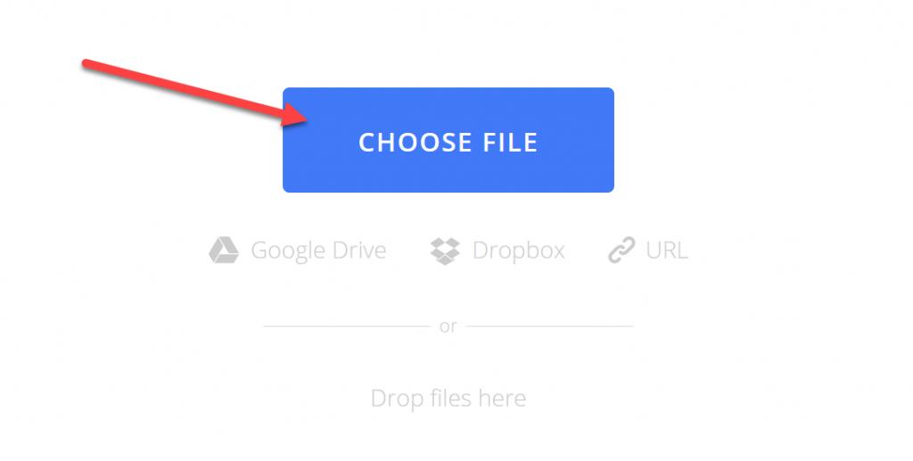 PDF in Word umwandeln choose file