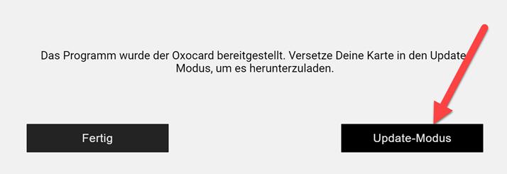Oxocard zurücksetzen